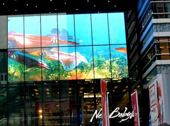 Transparent LED screen for window of shopping mall, hotel