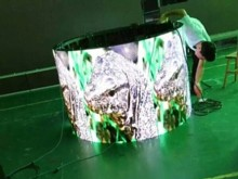 Flexible curved LED displays