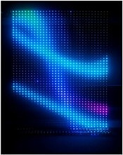 LED net soft curtain: club, stage