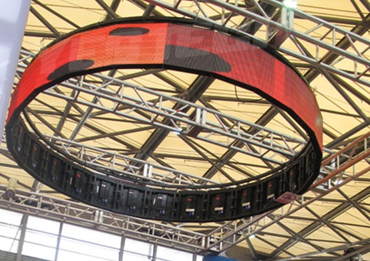Indoor, outdoor light-weight curved LED display