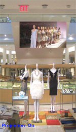 switchable opaque to transparent privacy film for shop windows